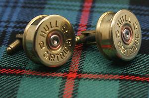 Shotgun Shell Cartridge Cap Cufflinks Clay and Game Shooting Super Gift 005