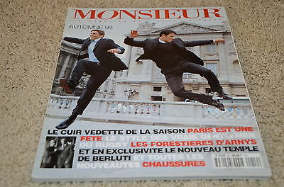 1999 Monsieur Mens Fashion Magazine Paris Edition Watch Clothing Ads Montaigne
