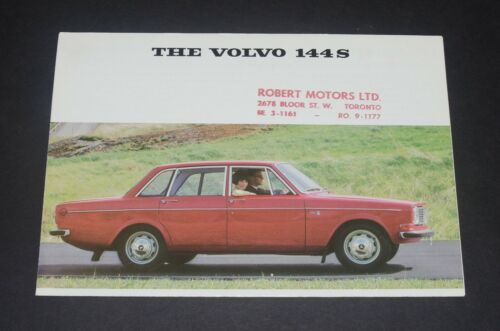 1967 Volvo 144S Sales Brochure Fold Out