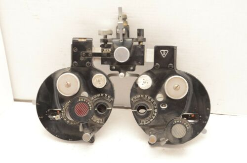 Early Optical Bausch & Lomb Refractor Phoropter Eye Exam Tools machine Vintage
