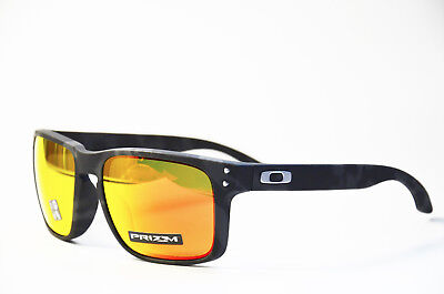 Oakley Holbrook OO 9102 E9 55 Prizm Ruby Black Camo Kunststoff Sonnenbrille Neu