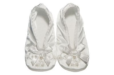 Isotoner Satin Pearl Ballerina Girl's Slippers - Multiple Colors/Sizes NEW (Girls Ballerina Slippers)