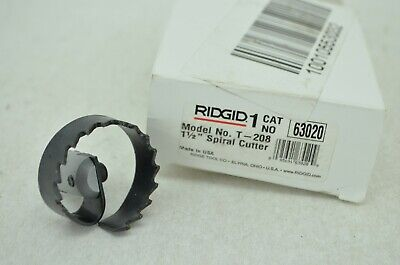 Ridgid Spiral Cutter Drain Cleaning Tool Clog Snake Cable Pipe Auger Drum Sewer