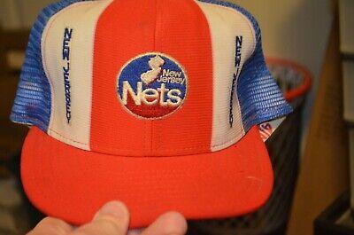New Jersey Nets AJD Lucky Stripes NBA Vintage 80's Snapback Cap Hat