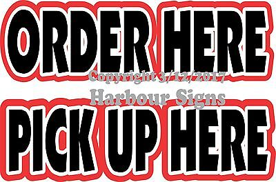 Order Here Pickup Here 20 Vinyl Decal Lettering Food Truck Concession