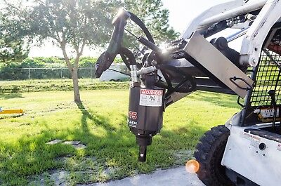Thomas Skid Steer-track Loader Auger By Mcmillen X1975 Handles Up To 36 Bit