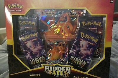 Pokemon Hidden Fates Charizard GX Booster Collection Box Factory Sealed