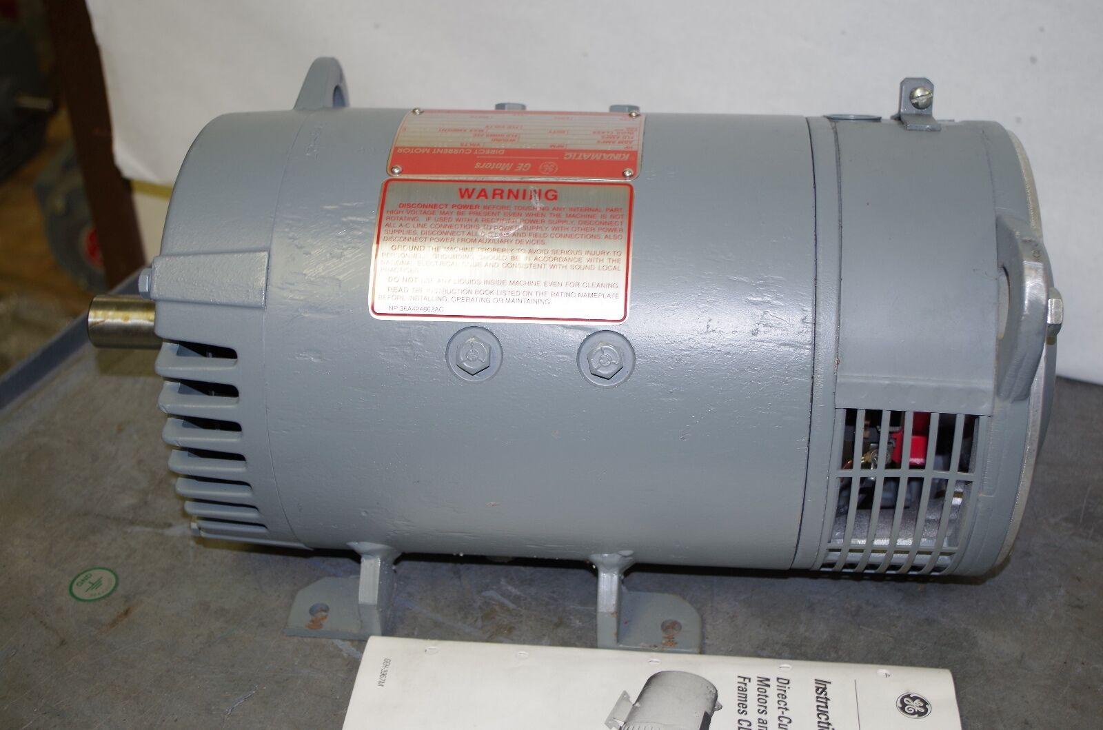 General electric kinamatic 5hp dc motor shunt wound 500v for General electric motor company