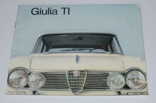 Alfa Romeo Giulia 1600 TI Brochure (1965) Original Great Shape