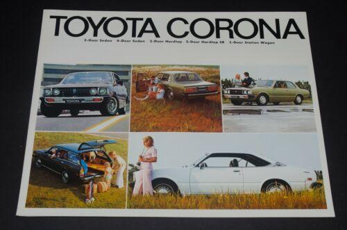 1974 TOYOTA CORONA Sales Brochure Canadian Market