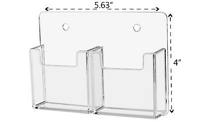 Business Or Gift Card Organizer Double Pocket Clear Vertical