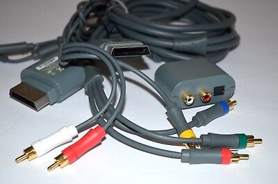 Genuine Microsoft Xbox 360 Play Charge Kit HD AV Component Audio Adapter Cable for sale  Shipping to India