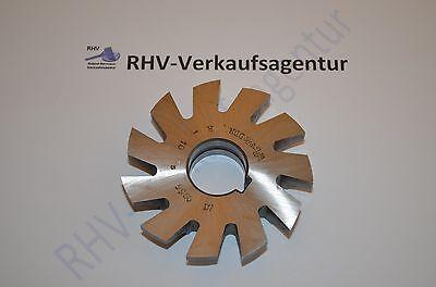 Viertelkreis-Formfräser, R=10 B, DDR, konkav, DIN 6513, RHV6997,