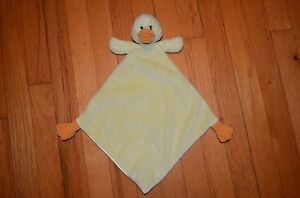 RARE-HTF-Yellow-Duck-Satin-Back-Security-Blanket-Lovey