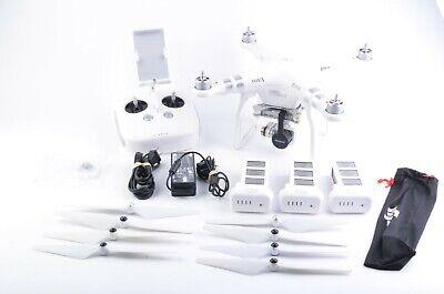 EXC+ DJI Revenant VISION 3 QUADCOPTER DRONE, CAMERA, 4BATTS, PROPS, CASE, NICE