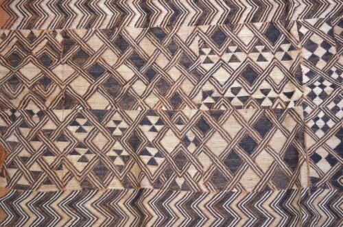 Antique Kuba Cloth Raffia Textile Traditional African Tribal Money Congo, Africa