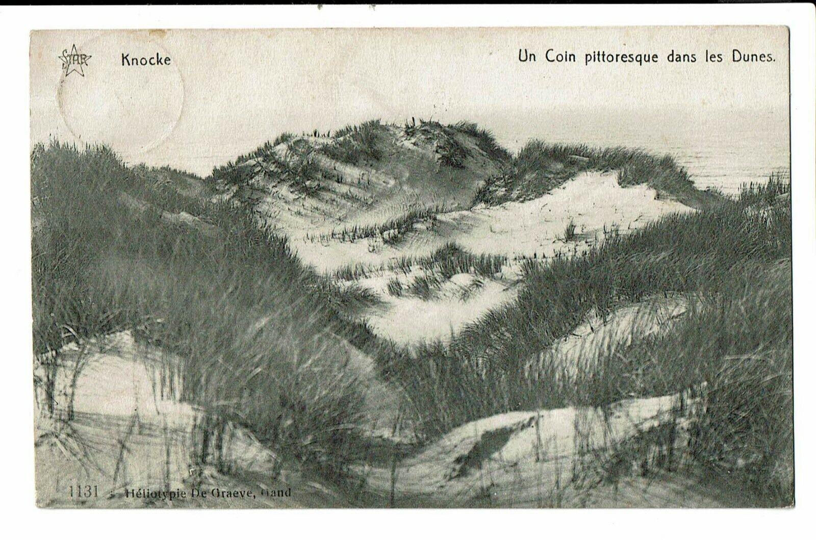 CPA - Carte postale- Belgique -Knokke- Coin Pittoresque dans les dunes-1911-  VM