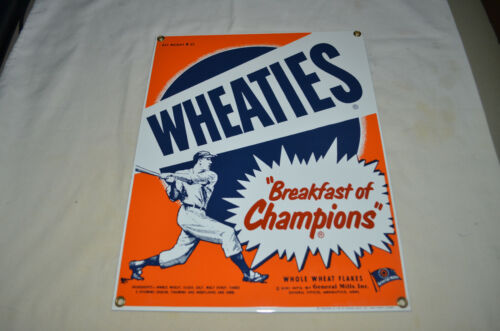 ANDE ROONEY PORCELAIN SIGN - WHEATIES