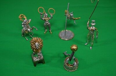 FRANKLIN MINT SILVER CIRCUS BY SASCHA BRASTOFF COMPLETE FULL SET!!