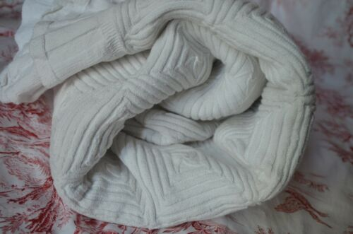 Antique French pure cotton finely hand knitted bed cover