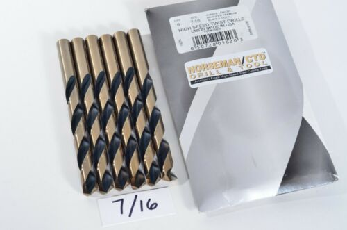 "6-PACK of 7/16"" 05820 Norseman / CTD USA Drill Bit Super Premium High Speed"