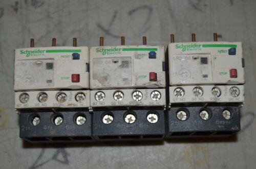 Set of 3 SCHNEIDER ELECTRIC Overload Relays 2.5 to 4A,3P,Class 10,690V