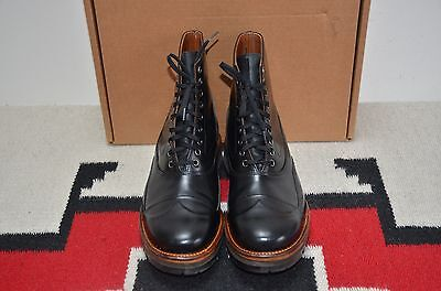 Julian Boots Made In Usa Vibram Sole Black Leather Berlin Ankle Boots