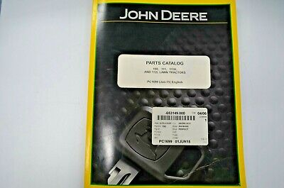 John Deere Parts Catalog For 108 111 111h 112l Lawn Tractors