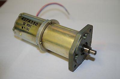 12vdc Geared Dc Motor Trw Globe  407a-350  36rpm  216ma. Torque 250 Oz-in