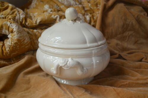 Antique french soup tureen, soupiere, Digoin & Sarreguemines circa 1900