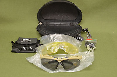 Oakley SI M Frame 2.0 Ballistic Clear Yellow Grey Lens Shooting Glasses UV400, used for sale  La Vernia