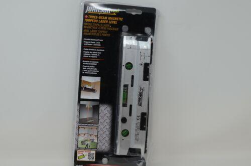 Johnson Level Tool 40 6184 Three Beam Magnetic Torpedo Laser Dot Versatile -a3