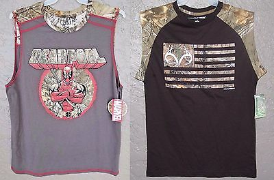 DEADPOOL Realtree XTRA Lot (2) MEN'S Teens Tank Top New SLEEVELESS T-Shirt SMALL