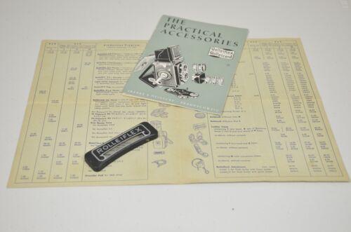 vintage Rolleiflex literature and part 2
