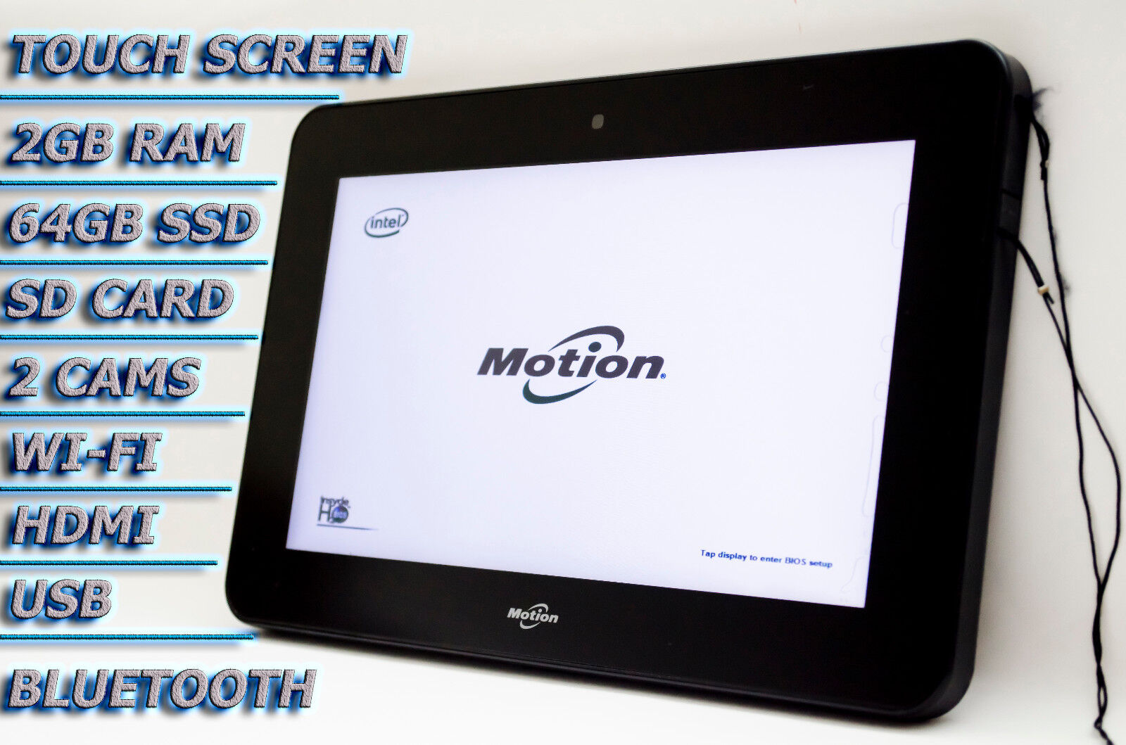 Motion Computing CL910 Dual Core 1.6GHz 64GB SSD Rugged Tablet PC Touch HDMI #1