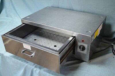 Mid Diggity Hot Dog Bun Warmer Warming Drawer Ss 120v 300w Gold Medal 8117 Steam