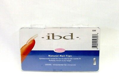 (IBD Nail Nail Tips NATURAL size 1-10 100ct/box )