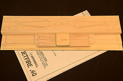 Sport Trainer Airtronics JETFIRE 40 laser cut Short Kit and Plans 52 in wingspan