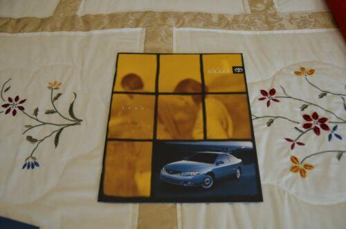 Toyota Solara 1999 Car and Automotive Literature Catalogs