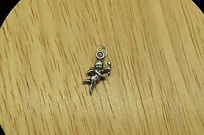 925 STERLING SILVER SMALL FLYING FAIRY WITH WAND AND WINGS PENDANT CHARM #19875](Wands And Wings)