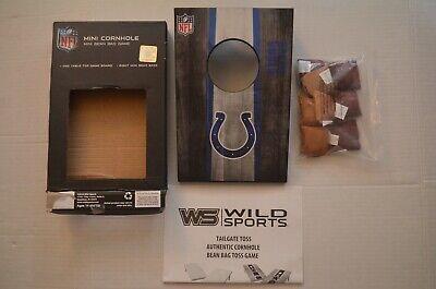 NFL Indianapolis Colts Mini Cornhole Mini Bean Bag Tabletop Game.