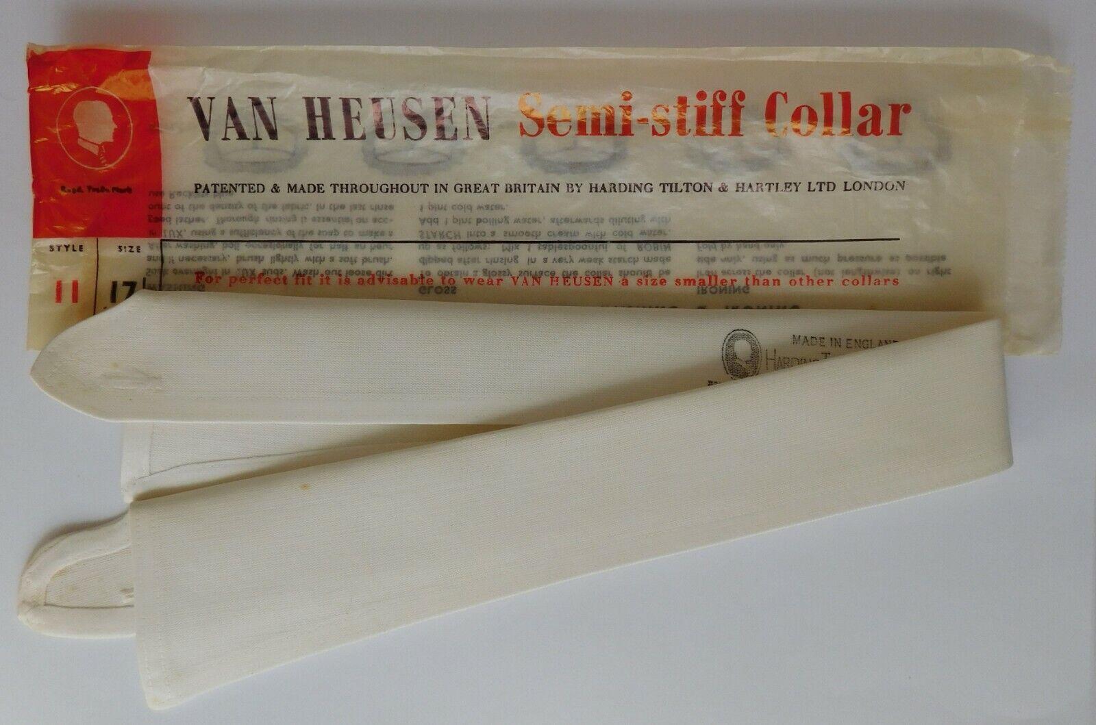 Van Heusen vintage shirt collar size 17.5 style 11 semi stiff UNUSED Shop soiled