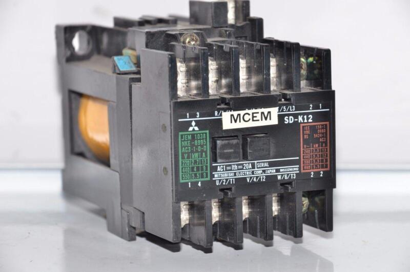 MITSUBISHI SD-K12 24VDC Contactor 24VDC 20A 3Pole +2NO+2NC