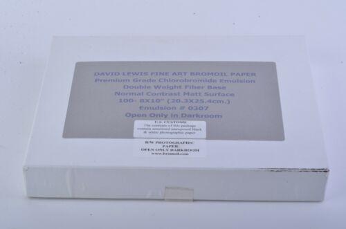 """BOX OF 100sh 8x10"""" DAVID LEWIS BROMOIL PAPER CHLOROBROMIDE EMULSION DW FB MATT"""