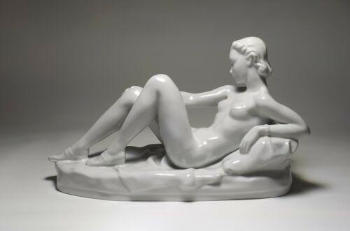 Gertrúd Mária Donner (1902-1986) - Drasche - Art Deco Recumbent Nude Woman