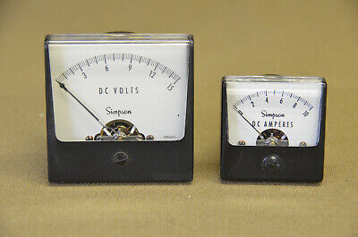 Simpson D C Volts And D C Amperes Meter  5-b