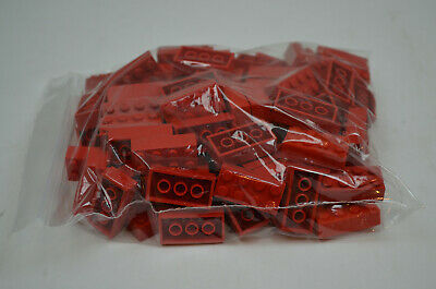 Lego Red 2x4 Bricks from a large lot 1/2 Pound