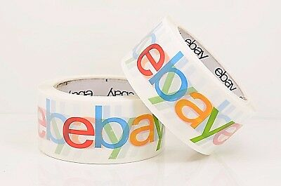 2 X Official Ebay Brand Logo Tape 75 Yard Bopp Shipping Packing Box Seal 2 Roll