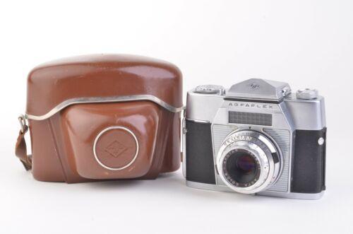 EXC+++ AGFA AGFAFLEX II 35mm CAMERA w/COLOR APOTAR 50mm 2.8, CASE, WORKS GREAT!
