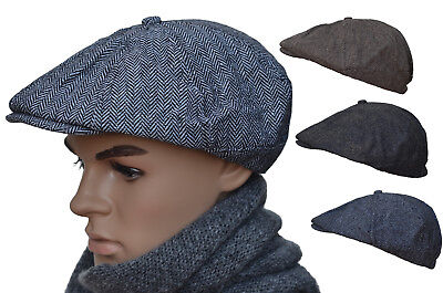 Newsboycap Gatsby Ballonmütze Wintercap Wollcap Schiebermütze Schirmmütze B02